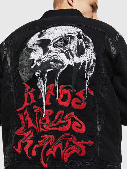 Diesel - NHILL-SXY1, Black - Denim Jackets - Image 5