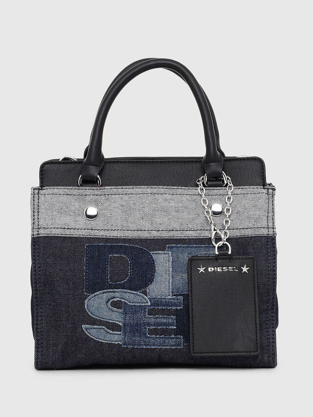 Diesel - F-DESTAR SATCHEL M, Blue/Black - Shopping and Shoulder Bags - Image 1