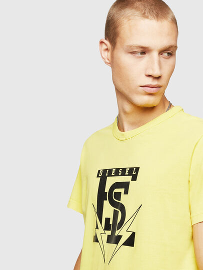 Diesel - T-DIEGO-B14, Yellow - T-Shirts - Image 3