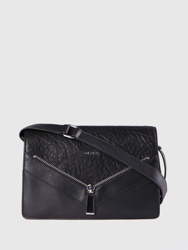 Diesel - LE-MISHA, Black Leather - Crossbody Bags - Image 1