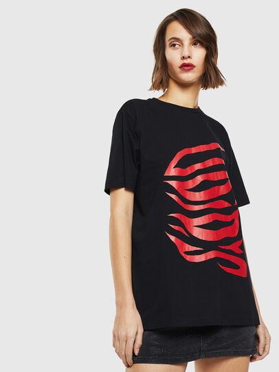 Diesel - T-JUST-J9, Black/Red - T-Shirts - Image 2