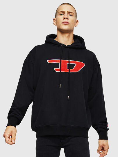 Diesel - S-DIVISION-D, Black - Sweaters - Image 1