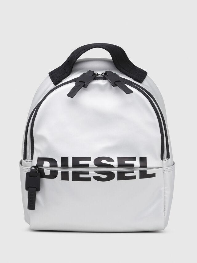 Diesel - F-BOLD BACK FL, Silver - Backpacks - Image 1