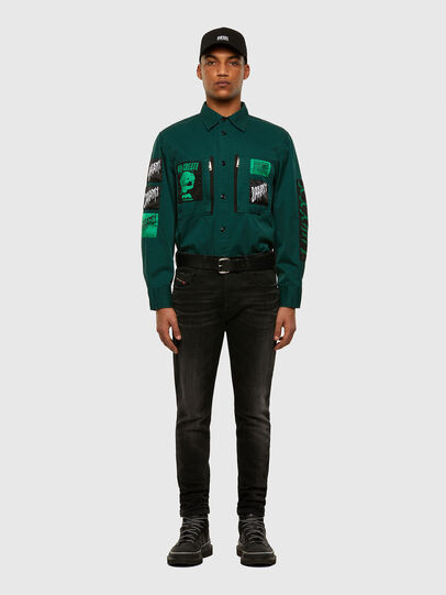 Diesel - S-MARCUS, Dark Green - Shirts - Image 6