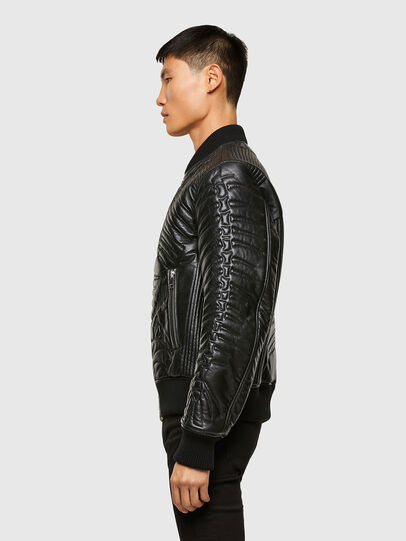 Diesel - L-FUTURE, Black - Leather jackets - Image 7