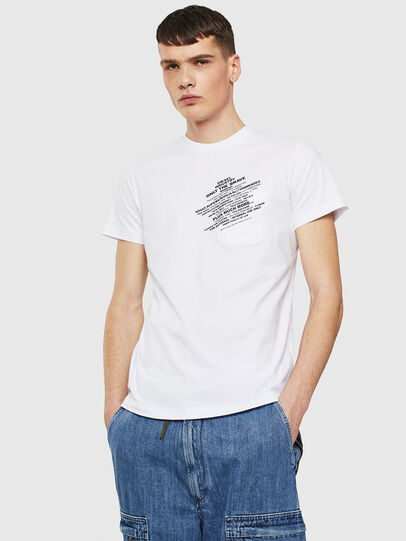 Diesel - T-WORKY-S1, White - T-Shirts - Image 1