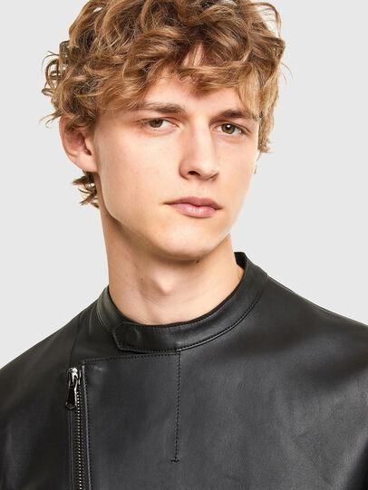 Diesel - L-LIAM, Black - Leather jackets - Image 3