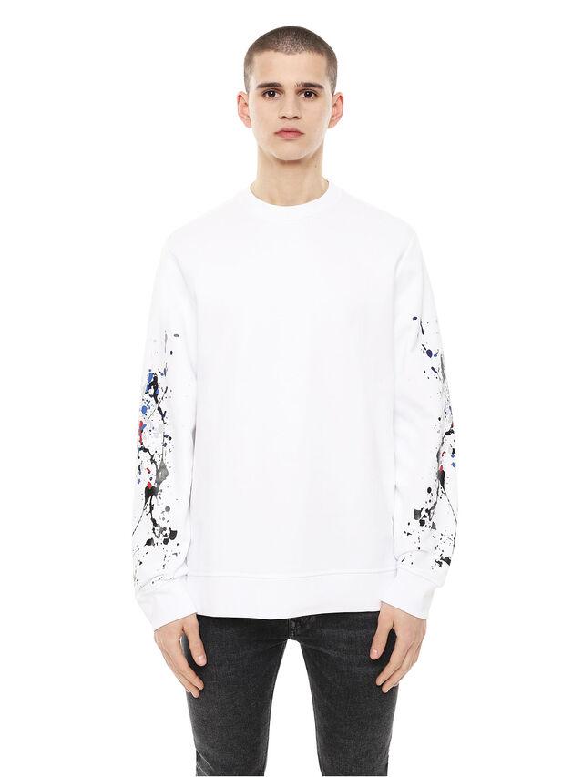 Diesel - SNEILB-SPLASH, White - Sweaters - Image 1