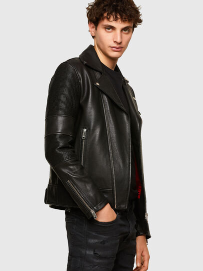 Diesel - L-STARKVILLE, Black - Leather jackets - Image 5