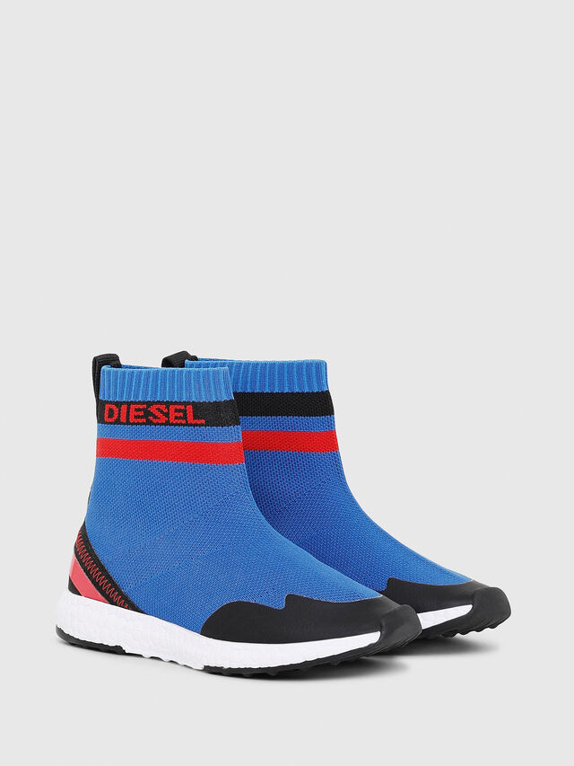 Diesel - SLIP ON 03 S-K SOCK, Blue - Footwear - Image 2