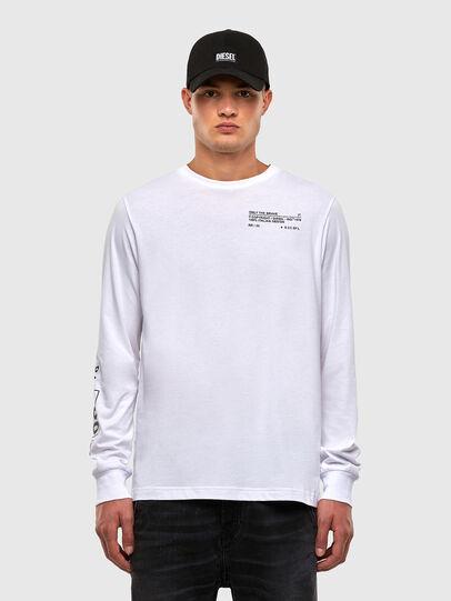 Diesel - T-JUST-LS-N62, White - T-Shirts - Image 1
