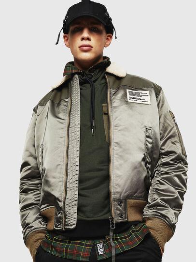 Diesel - W-FEDOVIK, Military Green - Winter Jackets - Image 3