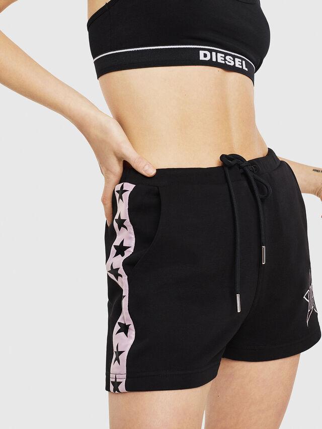 Diesel - UFLB-MARIN-SH, Black/Pink - Pants - Image 1