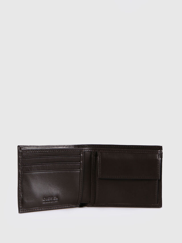 Diesel - HIRESH XS, Dark Brown - Small Wallets - Image 3