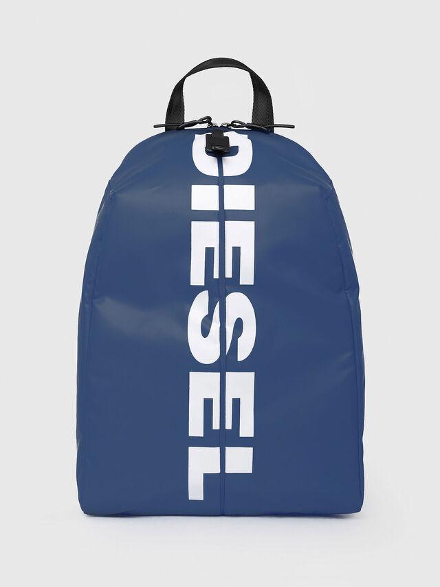 Diesel - F-BOLD BACK, Blue/White - Backpacks - Image 1