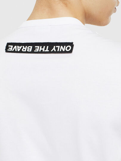 Diesel - T-WORKY-SLITS, White - T-Shirts - Image 4