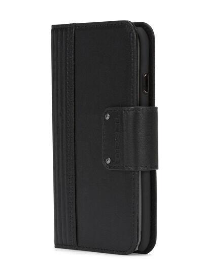 Diesel - BLACK LINED LEATHER IPHONE 8 PLUS/7 PLUS FOLIO,  - Flip covers - Image 2
