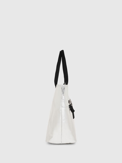 Diesel - F-BOLD SHOPPER II, Silver - Shopping and Shoulder Bags - Image 3