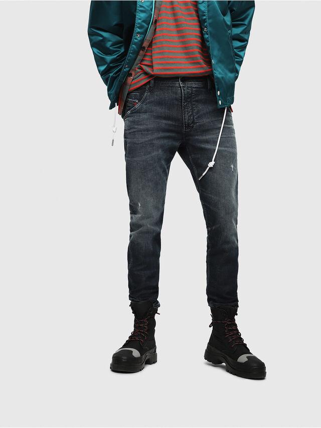 Diesel - Krooley JoggJeans 087AI, Dark Blue - Jeans - Image 1