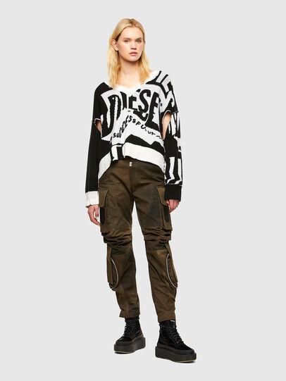 Diesel - M-ROSALINE, White/Black - Knitwear - Image 4