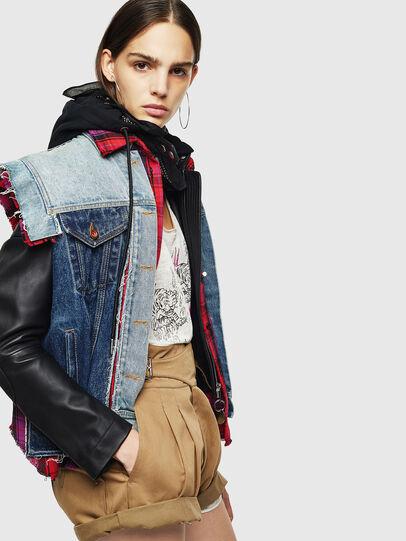 Diesel - L-MARALI, Blue/Black - Leather jackets - Image 3