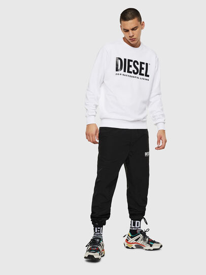Diesel - S-GIR-DIVISION-LOGO, White - Sweaters - Image 7
