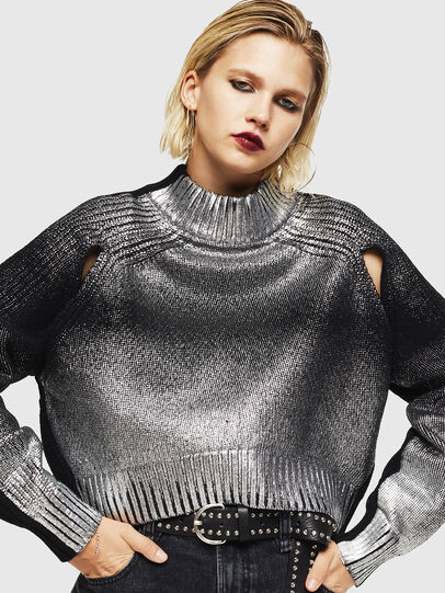 Diesel - M-FOLLY-A, Black/Silver - Knitwear - Image 4