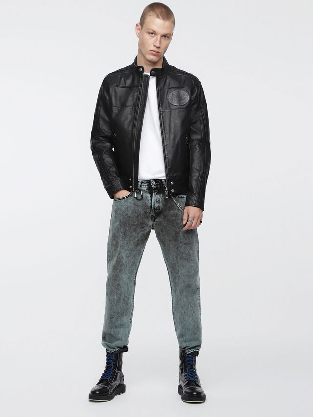 Diesel - L-STREET, Black Leather - Leather jackets - Image 4