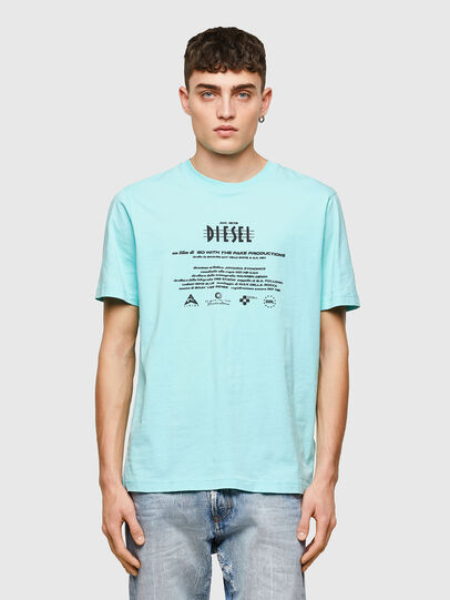 Diesel - T-JUST-E9, Light Blue - T-Shirts - Image 1