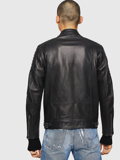 Diesel - L-SHIRO, Black Leather - Leather jackets - Image 2