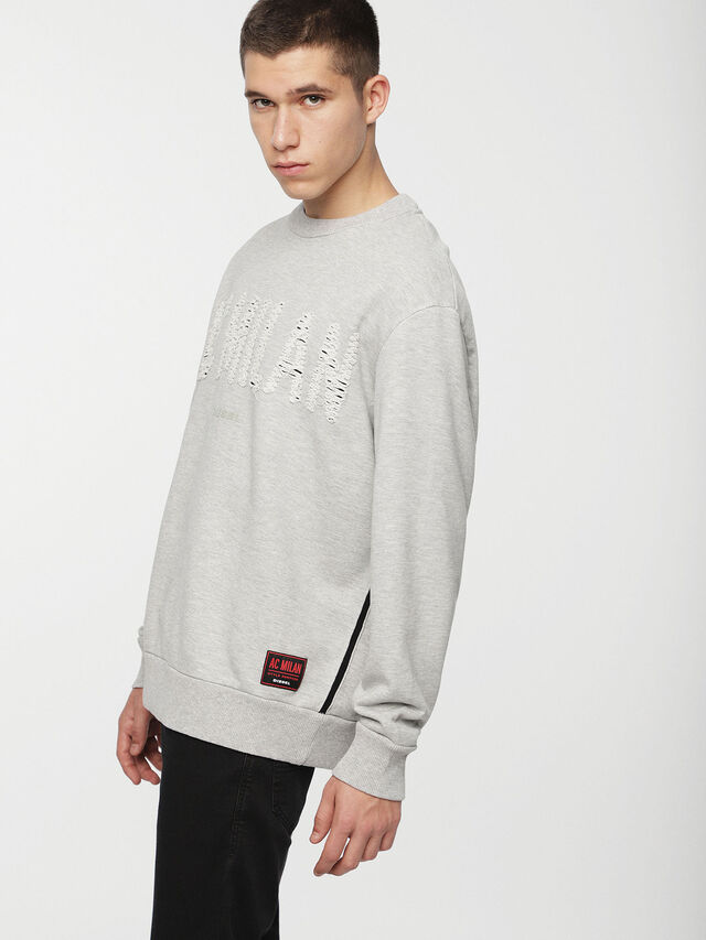Diesel - DVL-SIFLA-CAPSULE, Light Grey - Sweaters - Image 4