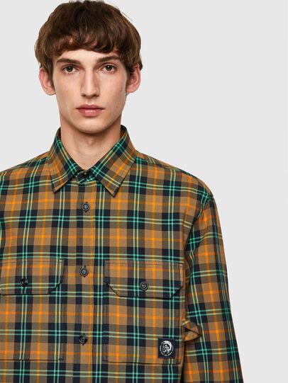 Diesel - S-JESS-CHECK, Orange/Green - Shirts - Image 3