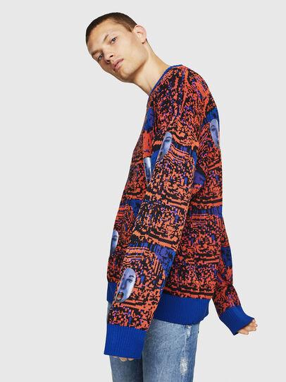 Diesel - K-FACE, Red/Blue - Knitwear - Image 3