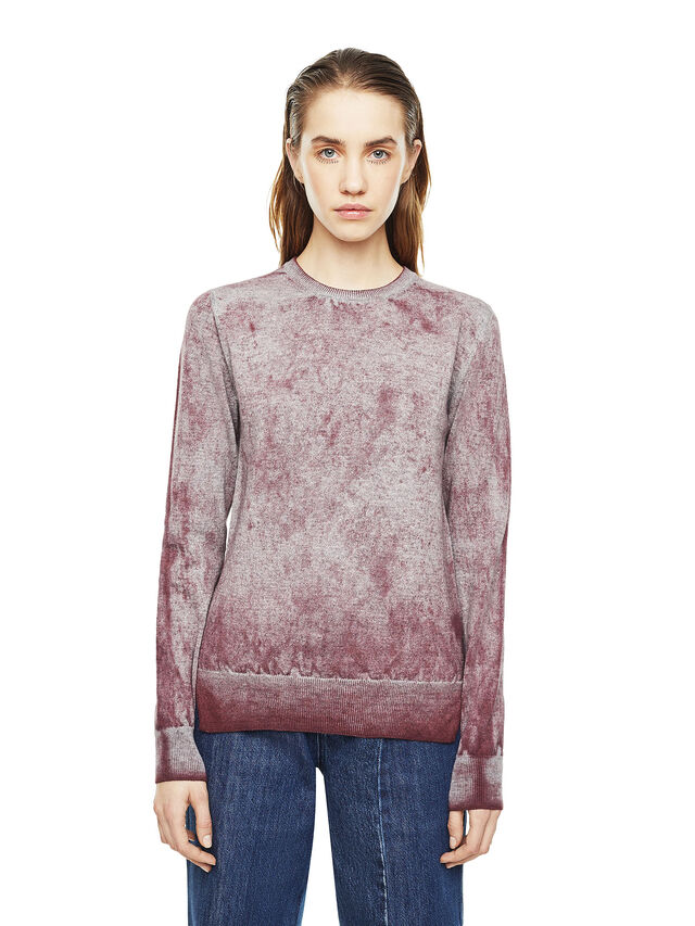 Diesel - MESULF, White/Red - Knitwear - Image 1