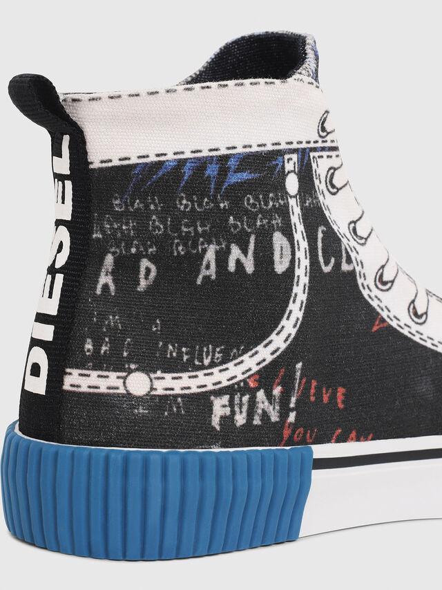 Diesel - SN MID 08 GRAPHIC CH, Black/White - Footwear - Image 4