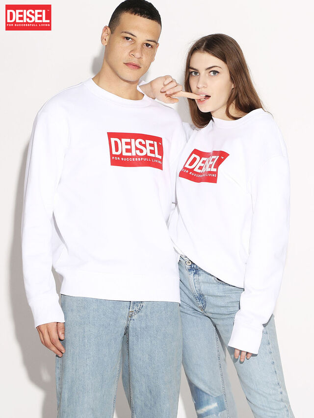 Diesel - DEIS-SGIRO, White - Sweaters - Image 1