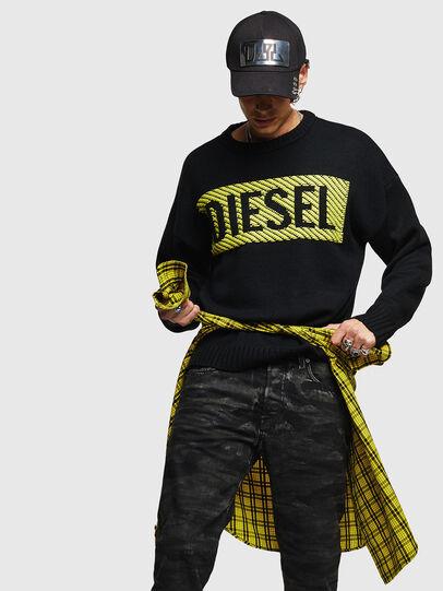 Diesel - K-LOGOX-C, Black - Knitwear - Image 4