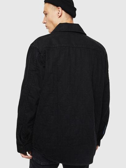Diesel - D-WELLES, Black - Denim Shirts - Image 2