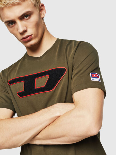 Diesel - T-JUST-DIVISION-D, Military Green - T-Shirts - Image 3