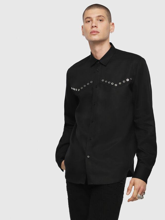 Diesel - S-HIROKI, Black - Shirts - Image 1