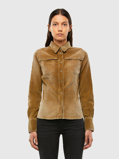 Diesel - C-SANDY-A, Light Brown - Shirts - Image 1