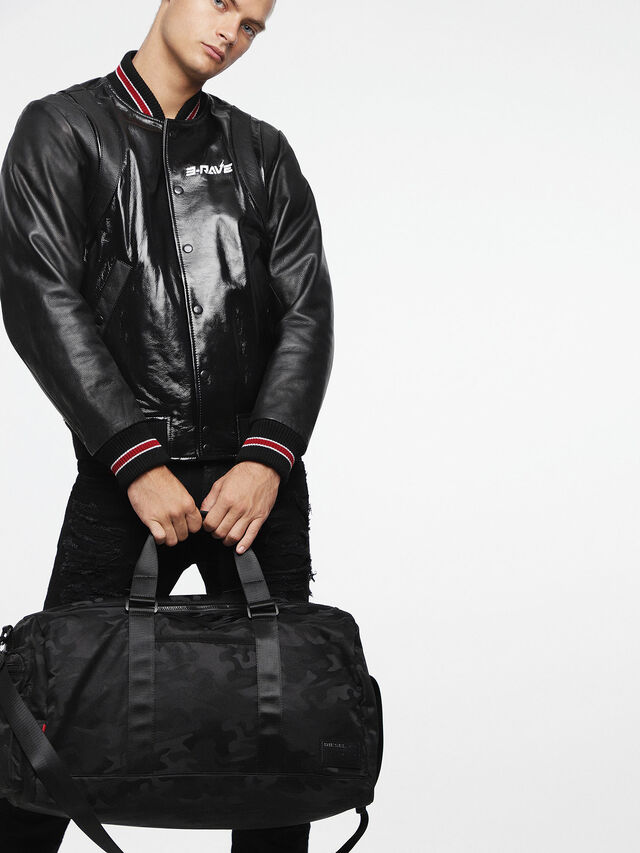 Diesel F-DISCOVER DUFFLE, Black - Travel Bags - Image 6