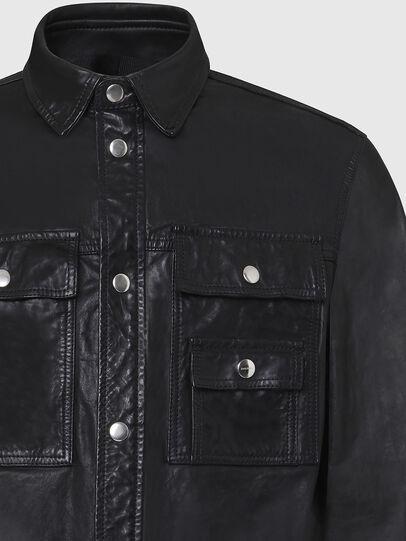 Diesel - L-MALIK, Black - Leather jackets - Image 4