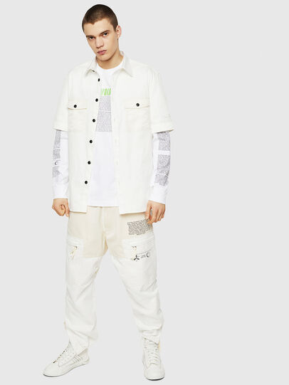 Diesel - T-JUST-LS-NEW, White - T-Shirts - Image 5