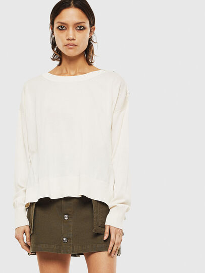 Diesel - M-PERLA-A, White - Knitwear - Image 1