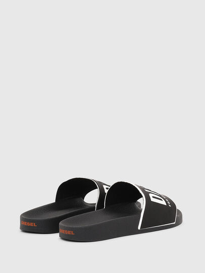 Diesel - SA-VALLA W, Black/White - Slippers - Image 3