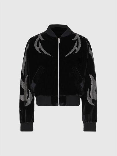 Diesel - F-CHINIL, Black - Sweaters - Image 1
