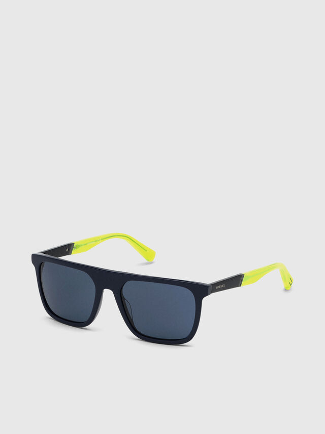 Diesel - DL0299-F, Blue/Yellow - Sunglasses - Image 2