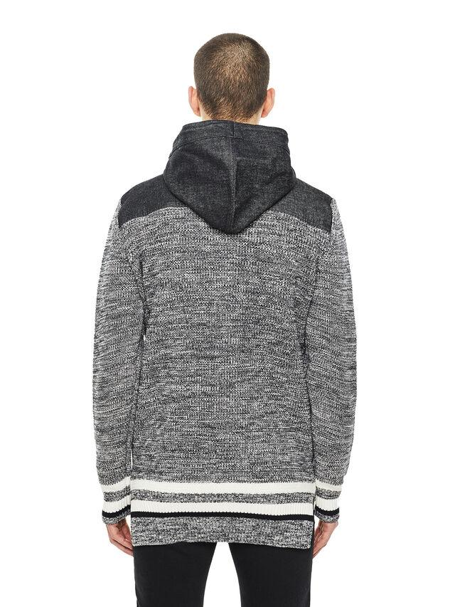 Diesel - KOMO-HOOD, Black/Grey - Knitwear - Image 2
