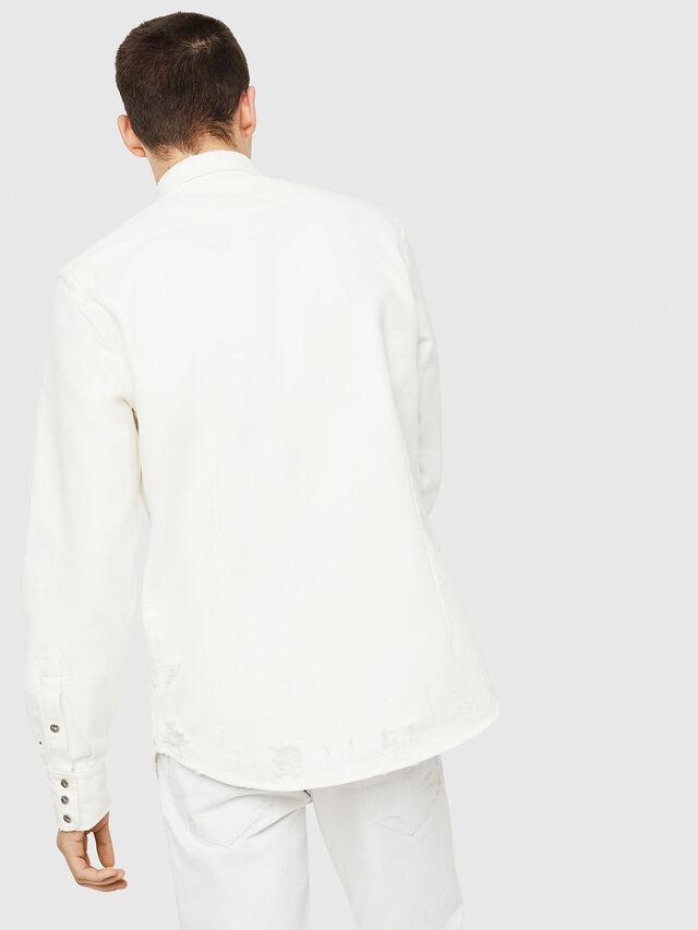 Diesel - D-LEO, White - Denim Shirts - Image 2